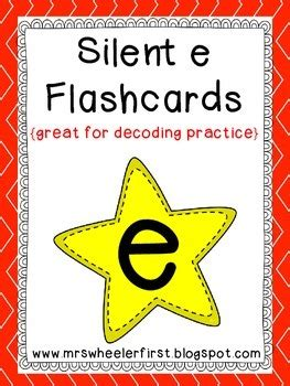 grade phonics silent  flashcards   wheeler tpt
