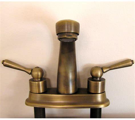 Antique Brass Single Slot Bathroom Vanity Faucet UVLFZZ5