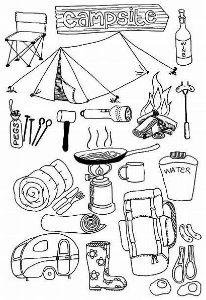 Camping Doodles Doodle Tent Theme Pages Sleeping