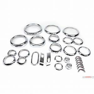 Mini Cooper Chrome Interior Trim Kit  Stick On Dash Chrome