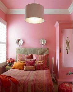 Stunning, Wall, Colour, Combination, With, Pink, Ideas
