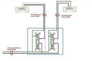 Single Pole Dual Switch Light Wiring Diagram