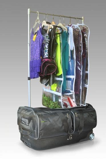 rolling bag with garment rack ecogear 39 s wheeled duffel with extendable garment rack