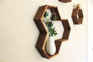 DIY Honeycomb Shelves (Made With Popsicle Sticks!)