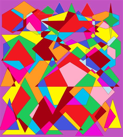 Abstract Geometric Shapes In by Abstract