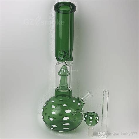 2017 Glass Bongs Smoking Water Pipes Thick Heavy Green And