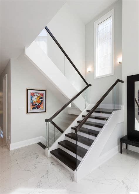 graceful transitional staircase designs  home longs