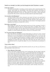example of child observation paper