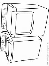 Dryer Washer Coloring Cooking Colouring Stoves Adult Ware Furniture Appliances Utensils Ol Doodles Zentangle Doodle Printables Window Lightupyourbrain sketch template