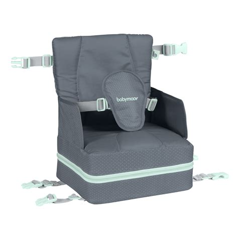 réhausseur chaise réhausseur de chaise up and go grey de babymoov sur allobébé