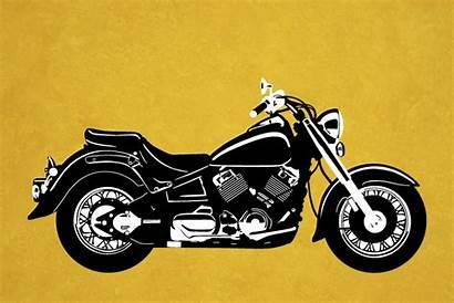 Motorcycle Vector Cruiser Graphics Illustrations Custom