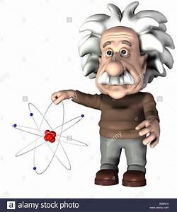 Albert Einstein With A Atom Stock Photo  19114732