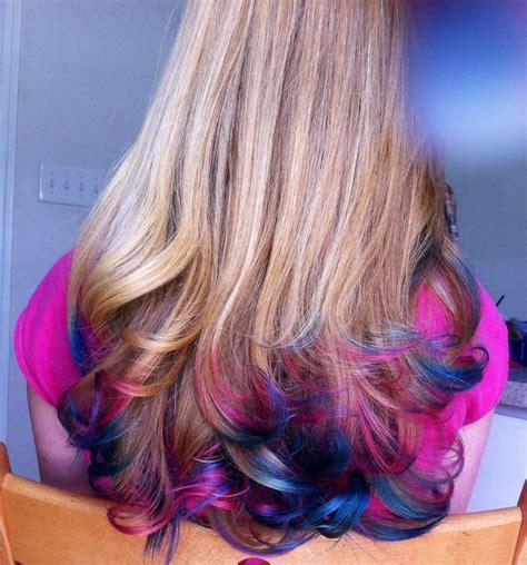 images  hair dies  pinterest blue red dip dye  red hairstyles