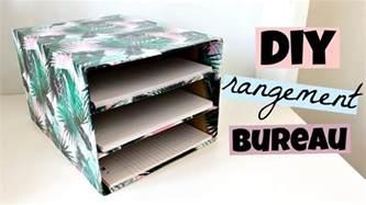 Rangement Papier Bureau Gifi by Diy Rangement Bureau Pour Vos Feuilles Youtube