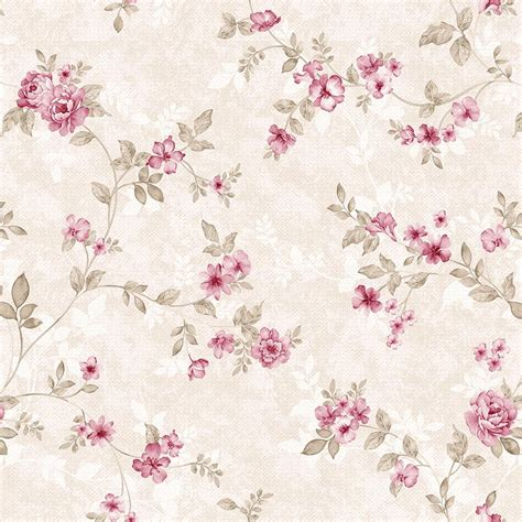 Papel de Parede Floral Rosa Delicado no Elo7 DecoraPlus