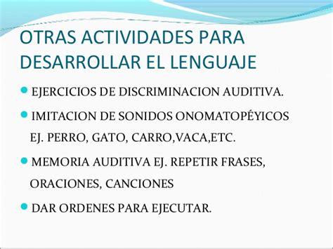 Actividades Para Estimular El Lenguaje En Escuela
