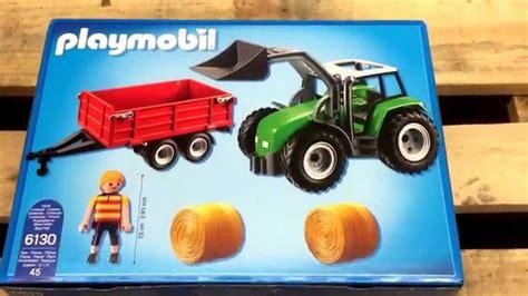 playmobil auto mit anhänger playmobil 6130 gro 223 er traktor mit anh 228 nger