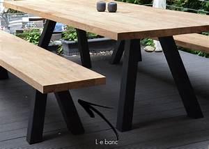 Table En Acier : banc de table de repas en bois design chez ksl living ~ Teatrodelosmanantiales.com Idées de Décoration