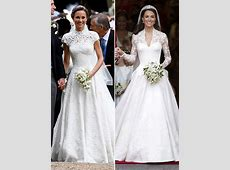 Pippa & Kate Middleton's Wedding Dresses Whose Stunning