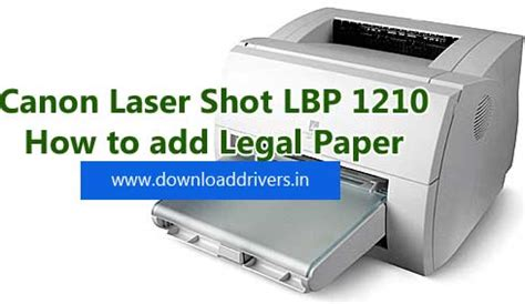 Noir et blanc imprimante laser. How to add legal paper size in Canon Laser Shot LBP 1210   Download Drivers - Softwares and ...