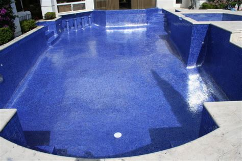 iridescent glass tile pool modern pool miami by