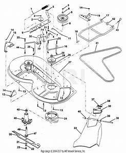 Poulan Pp1036s Tractor Parts Diagram For Mower Deck