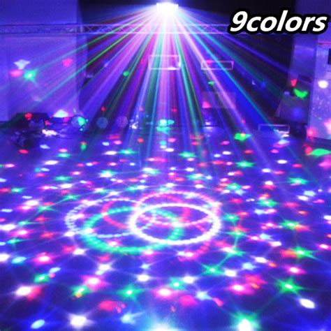 9 colors 27w crystal magic ball led stage l 21modes