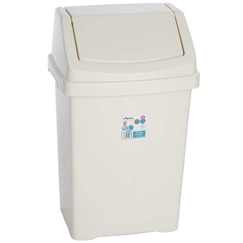 wham kitchen wham casa plastic swing top bin 8l 50l rubbish dust waste