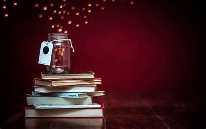 Books Desktop Bokeh Lights Wallpapersafari Jar