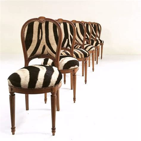 zebra dining chairs vintage maison jansen louis xvi style dining chairs in