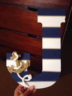 diy letter  beach theme google search  images sailor baby showers nautical baby