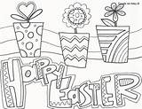 Coloring Easter Doodle Alley Spring Crochet Happy Colouring Sheets Template sketch template