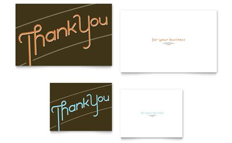 thank you card template adobe illustrator thank you note card template design