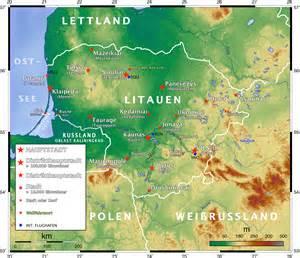 litauen hauptstadt karte