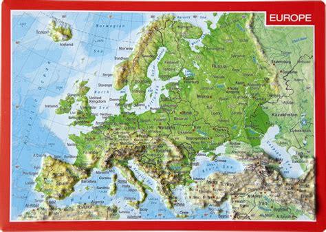 Carte Relief Europe Centrale by Georelief Carte Postale En Relief L Europe