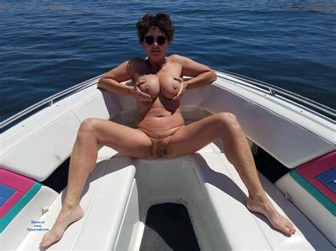 Plumper Woman Has Fun On A Boat