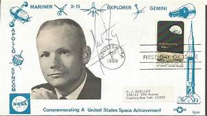 Neil Armstrong signed 1969 NASA Space Achievements FDC. Apol