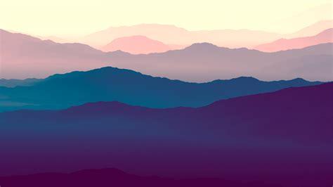 wallpaper mountains landscape purple gradient horizon