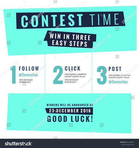 Contest Announcement Template by Social Media Contest Vector Template Stock Vector