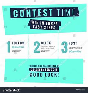 social media contest vector template stock vector With contest announcement template