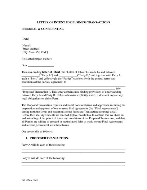 letter  intent business template search results easy