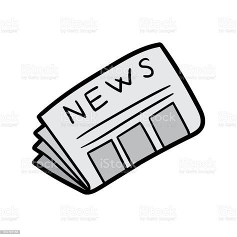 Cartoon Newspaper Vector Illustration Stock Illustration