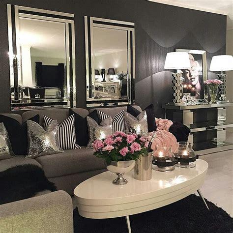 Black And Silver Living Room Decor  Home Design Ideas