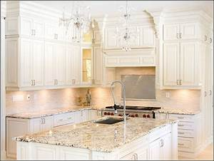 Off White Kitchen Cabinets With Granite Countertops ...