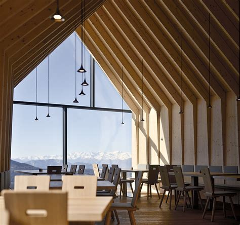 peter pichler completes wood wrapped mountain restaurant