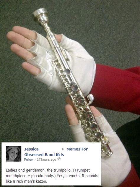 trumpet band memes music flute marching funny play mouthpiece humor instrument jokes trombone piccolo trumpets kazoo player nerd instruments rich
