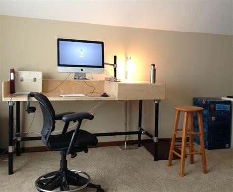 fabriquer bureau soi m e meuble bureau industriel et bureau mural diy en 63 idées
