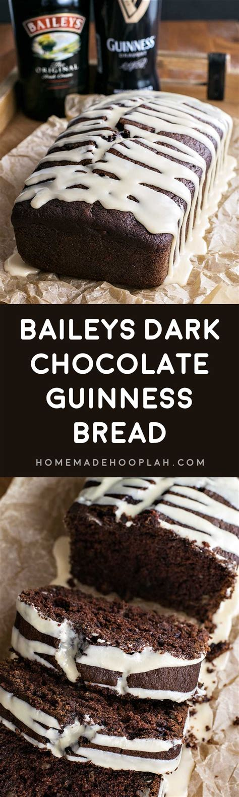 baileys dark chocolate guinness bread homemade hooplah