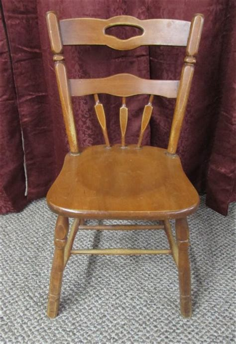 lot detail vintage maple kitchen chair