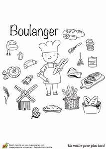 Coloriage Le Mtier De Boulanger Ptissier